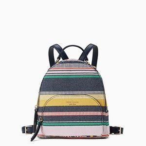 🌈 Kate Spade Jackson Boardwalk Stripe Md Backpack